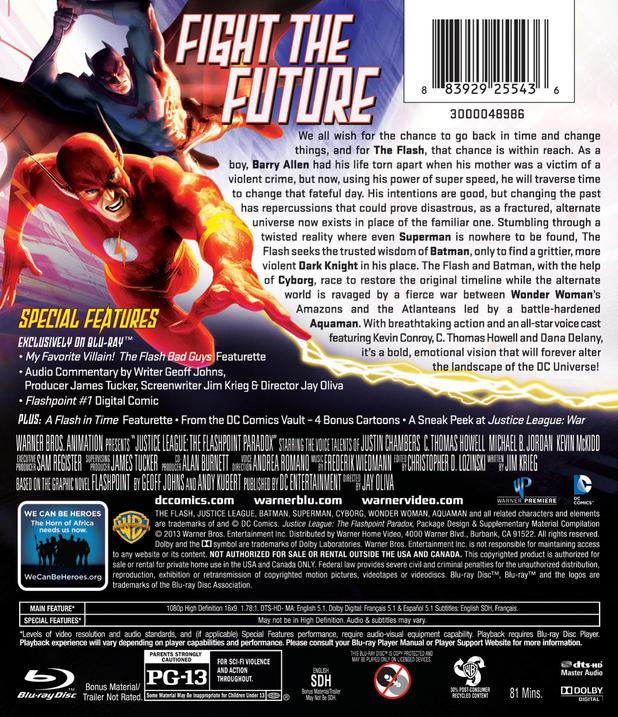 'Justice League: The Flashpoint Paradox' box art