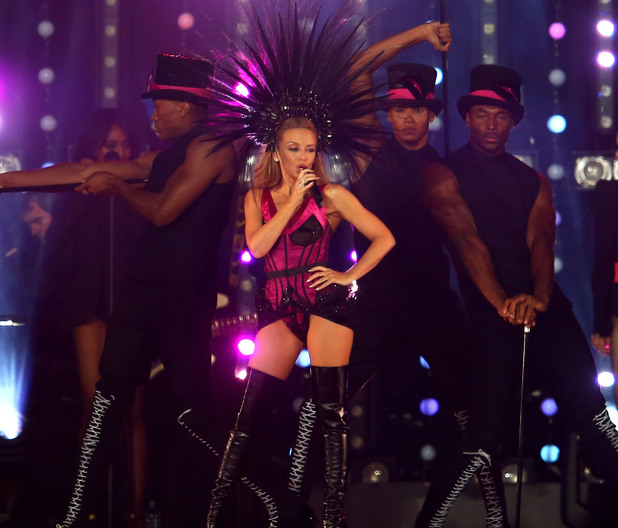 Kylie Minogue makes her grand appearance