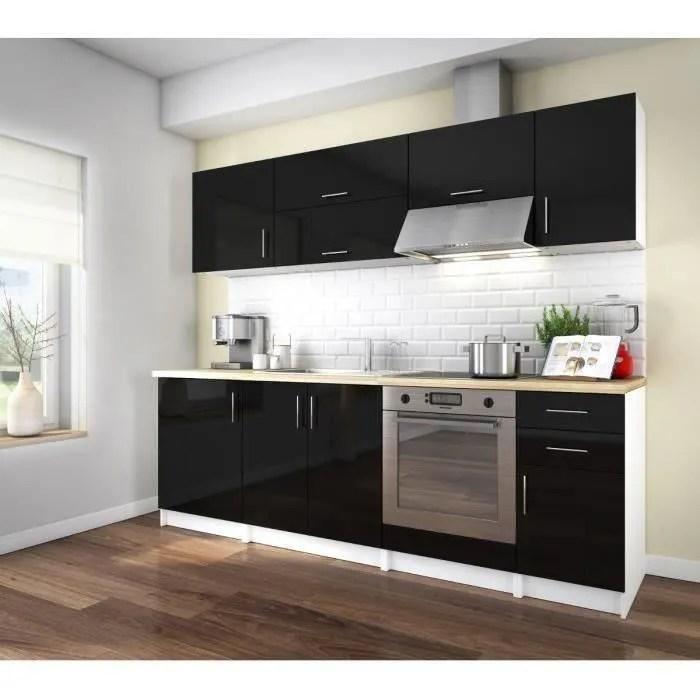 Maison Meubles Mobilier Arty Cuisine Complete Laque Noir Cm F Z L