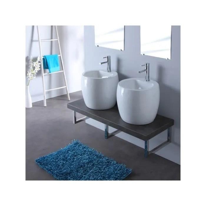 Meuble De Salle Bain Gris Avec Double Vasques B Achat