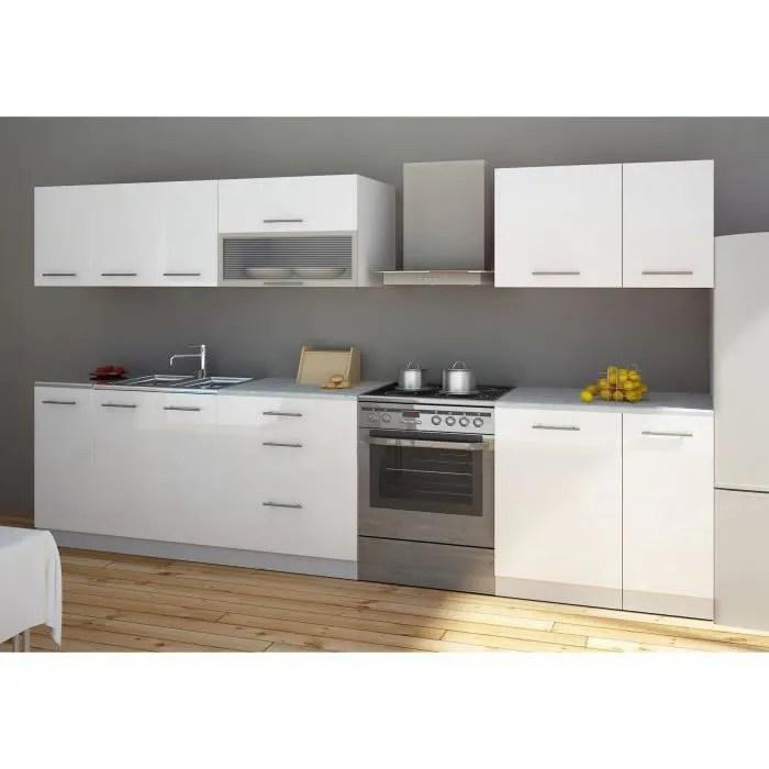 cuisine blanc laqu - boisholz - Meuble Cuisine Blanc Laque