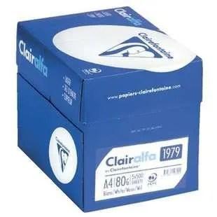 Lot 5 Ramettes Papier Clairefontaine A4 80g Blanc Prix