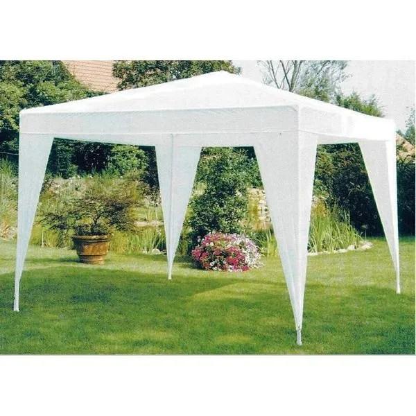 Tonnelle Tente De Jardin Pe 3 X 3 m blanche  Achat  Vente tonnelle  barnum Tonnelle Tente De