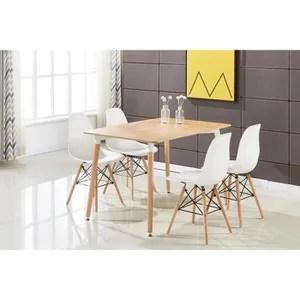 table de cuisine table de salle a manger moderne brun et 4 chaises