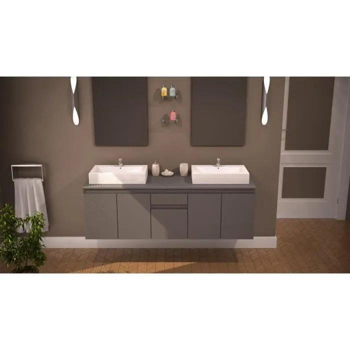 COMO ensemble salle de bain double vasque 150cm  Achat  Vente salle de bain complete COMO