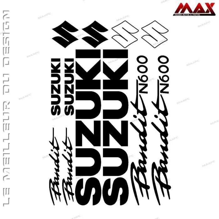 12 stickers SUZUKI BANDIT N600 – NOIR