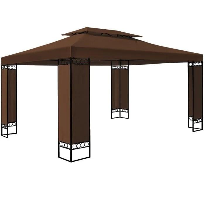 Maison Jardin Plein Air Tonnelle Jardin Marron Xm Elda Tente Reception F Auc L