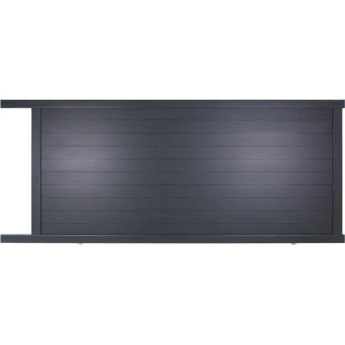 Portail coulissant en aluminium Yel gris 35m manuel  Autour du Portail  Achat  Vente portail