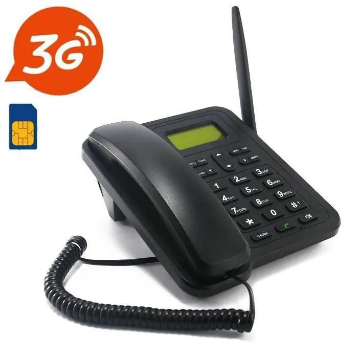 le nouveau telephone de bureau sans fil gsm 3g avec carte sim prend uniquement en charge le support reseau 3g wcdma 850 2100 mhz