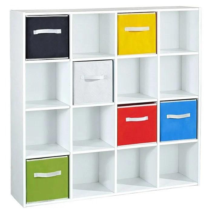 Meuble de rangement 16 cases MOLI  Achat  Vente petit meuble rangement Meuble de rangement 16