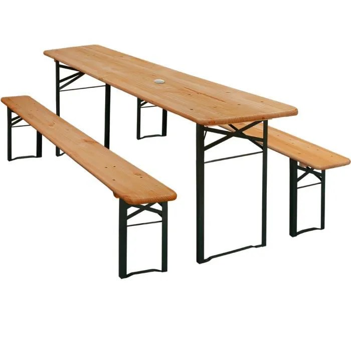 Table Et 2 Bancs Pliants Table Brasserie  Achat Vente