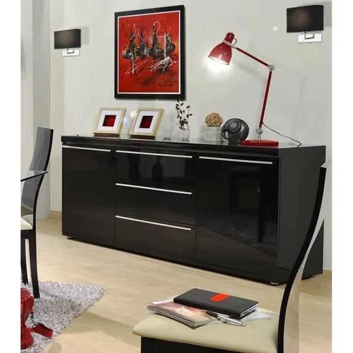 Buffet Noir Laque Pas Cher - Décoration de maison idées de design d ...