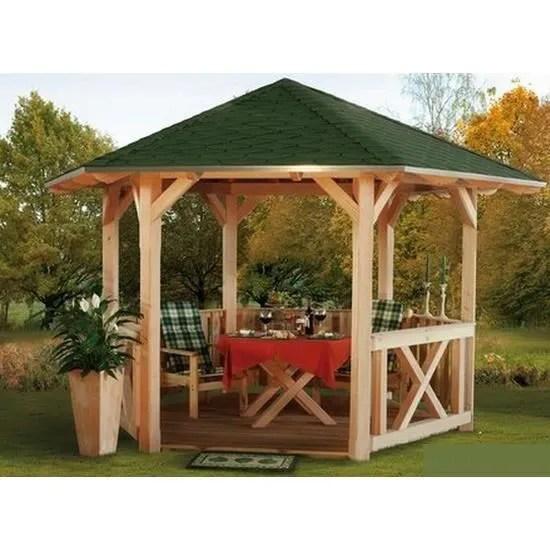 Pavillon de Jardin en Bois  420 cm COLMAR  Achat  Vente
