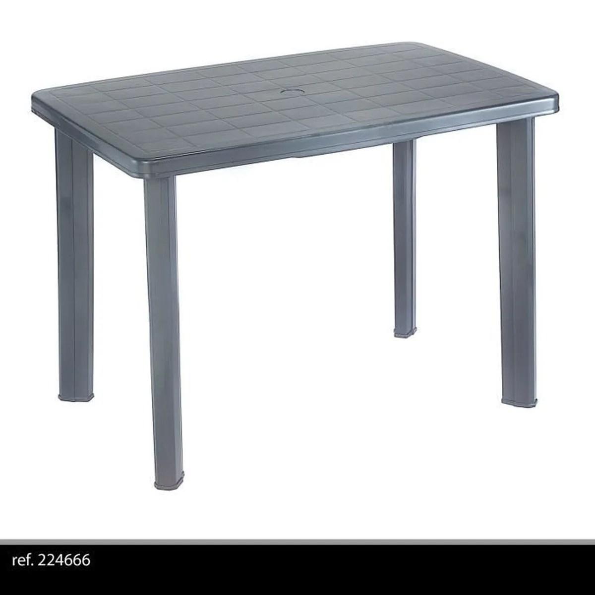 TABLE DE JARDIN DMONTABLE EN PLASTIQUE POUR CAMPING OU REPAS EN EXTERIEUR GRISE 100X70