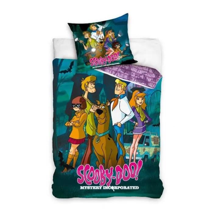 commandez parure housse de couette lit personne chambre scooby doo parure linge de lit reversible 1 coton housse de couette parure de lit enfant pour lit