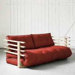 Reversible Sofa Air Best Quality Convertible Funk 160 Naturel Futon Rouge - Achat / Vente ...