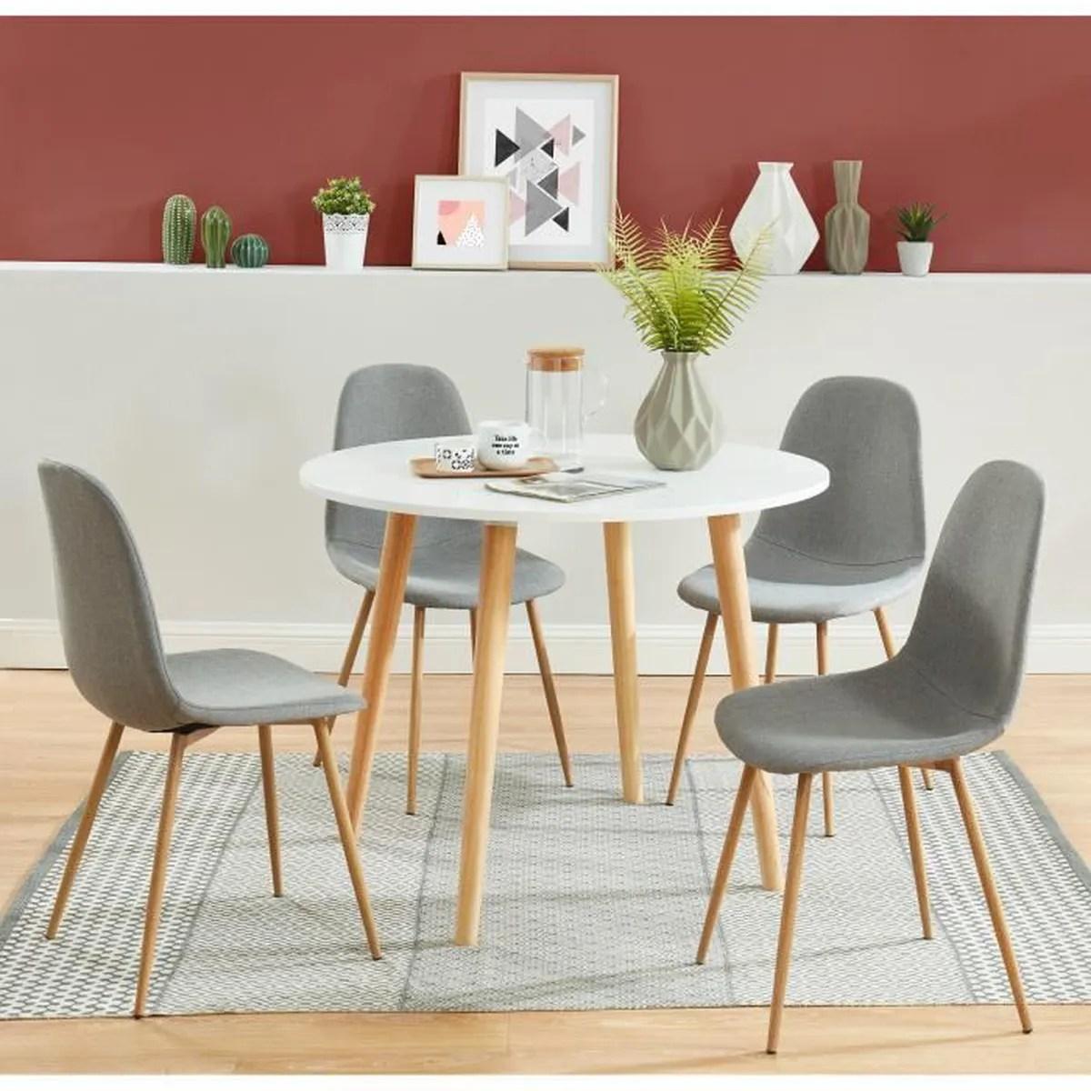 Table Et Chaises Scandinaves Pas Cher Photo De Chaise
