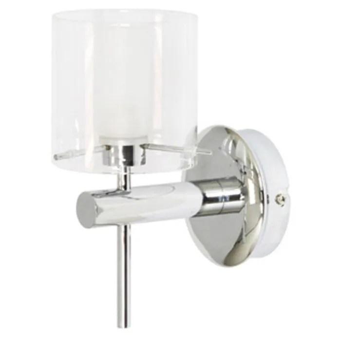 Applique salle de bain verre et chrome  Achat  Vente Applique salle de bain verre mtal et