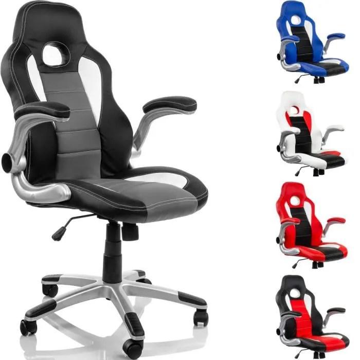 chaise de bureau fauteuil chaise de bureau racing noir gris