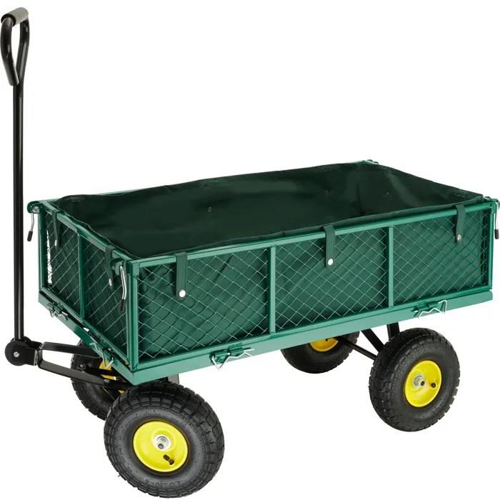 Chariot de Jardin Remorque  Main Bche TECTAKE  Achat  Vente brouette  Cdiscount