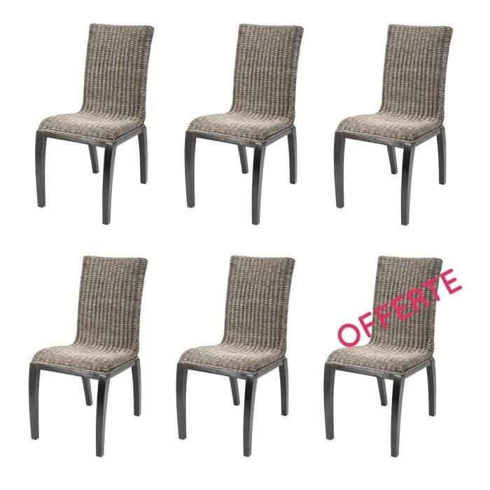 chaise lot 6 chaises rotin liga