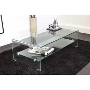 Table Basse Vera Table Basse En Verre Courbe Cm