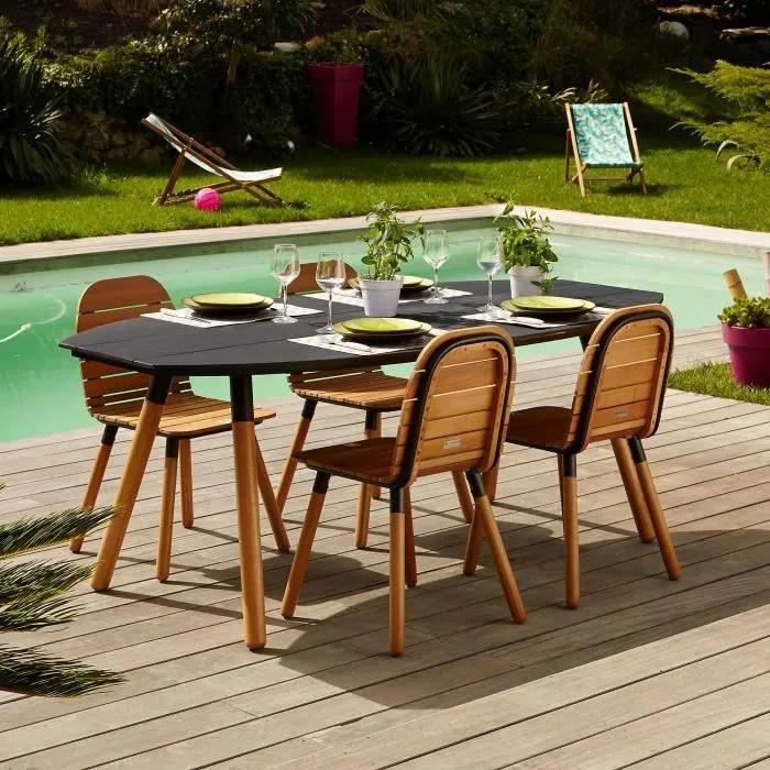 Raphael Jardin Table de jardin ovale noire  Noir  Achat  Vente table de jardin Raphael Jardin