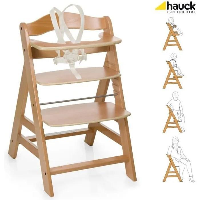Hauck Chaise Haute En Bois Évolutive Alpha + Bois  Achat