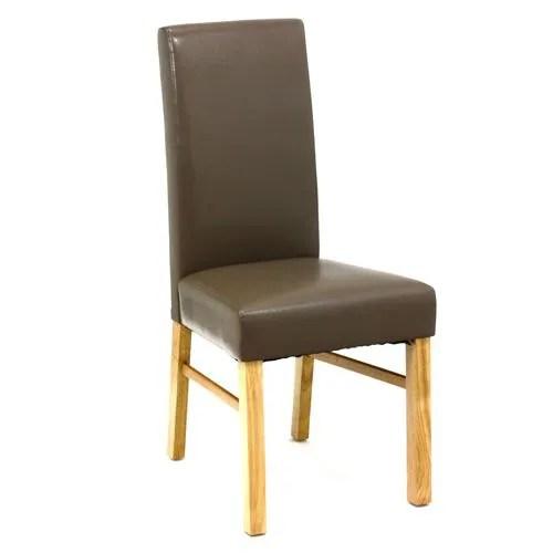 Chaise de salon  Hva  Taupe  Achat  Vente chaise Cuir polyurthane  Cdiscount