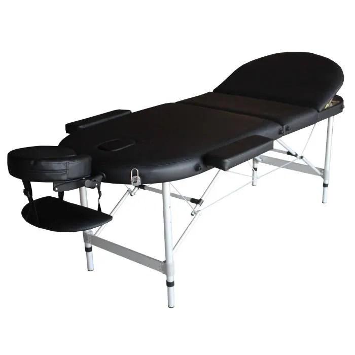 a21k table de massage noire pliante portable alu