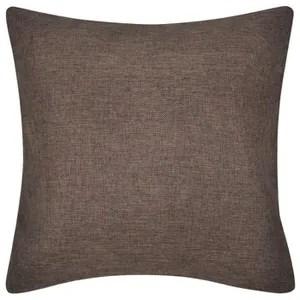 taie d oreiller coussins decoratifs couleur marron taille 80 x 8