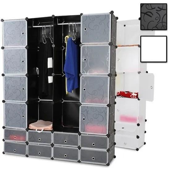 Rangement Armoire Penderie Plastique Modulable Achat