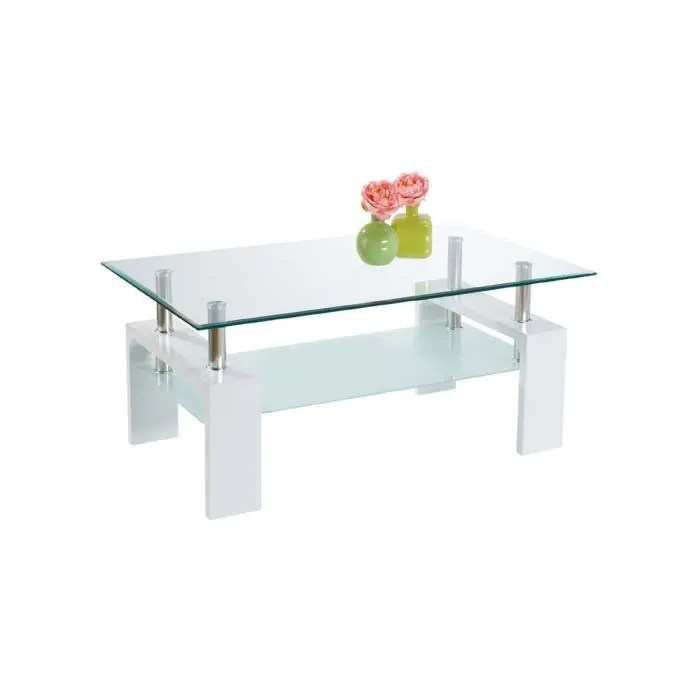 Nina Table Basse Blanche Achat Vente Table Basse