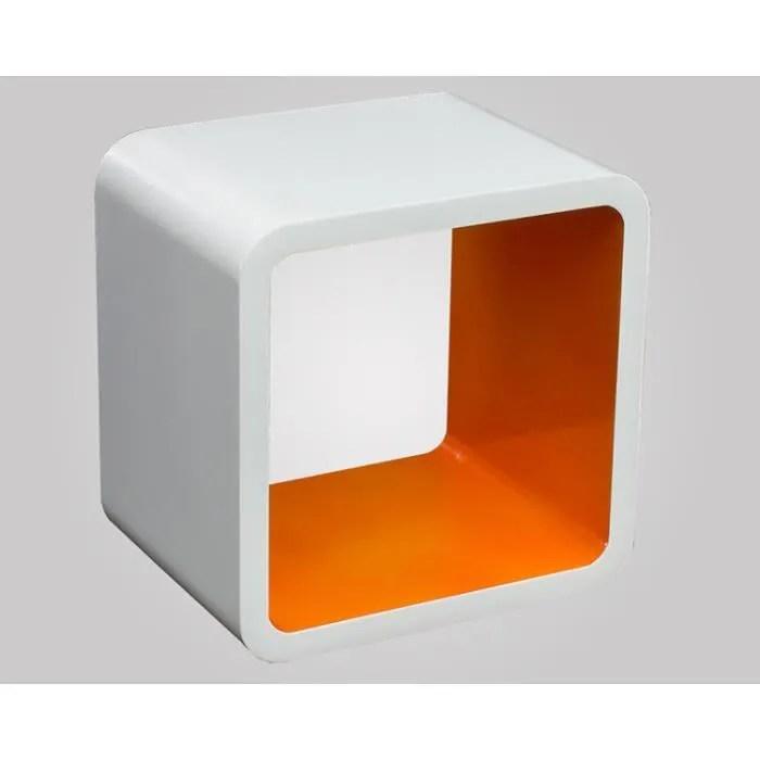 etagere murale orange