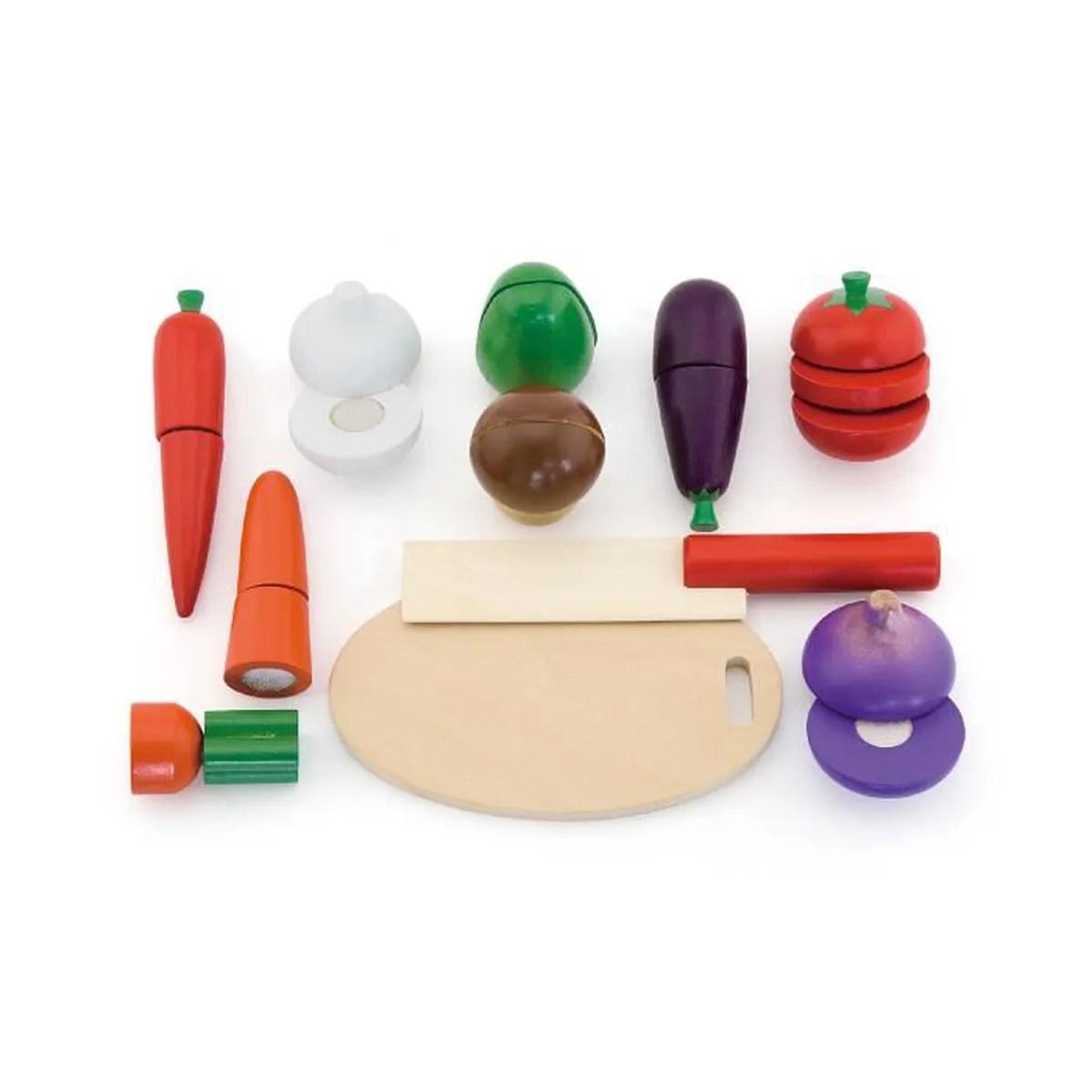 Lgumes en bois jeu  dcouper bb enfant 18m  Multicolore  Achat  Vente dinette  cuisine