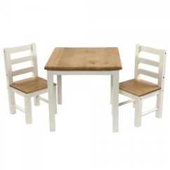 Small Table And Chairs For Toddlers Steel Chair In Nepal Ensemble Et Deux Chaises En Bois Pour Enfants Design