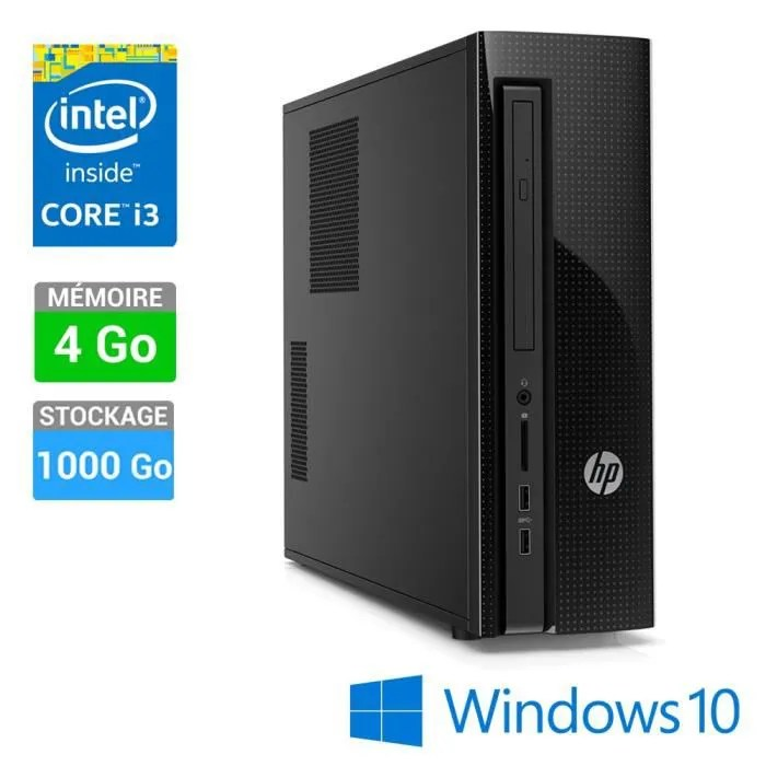 HP Unit Centrale Slimline 410 000NF Windows 10 1000Go