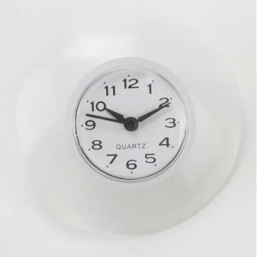Pendule ventouse pour salle de bain  PVC  Blanc  Achat  Vente horloge  Cdiscount