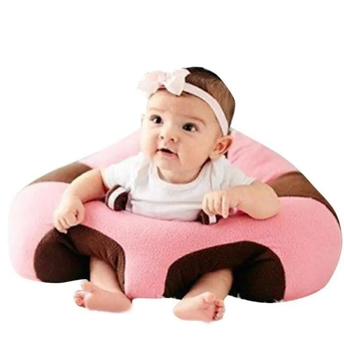 canape siege chaise bebe tout doux assis confort peluche jouet support pour fille garcon dans maison 3 16 mois bleu et rose