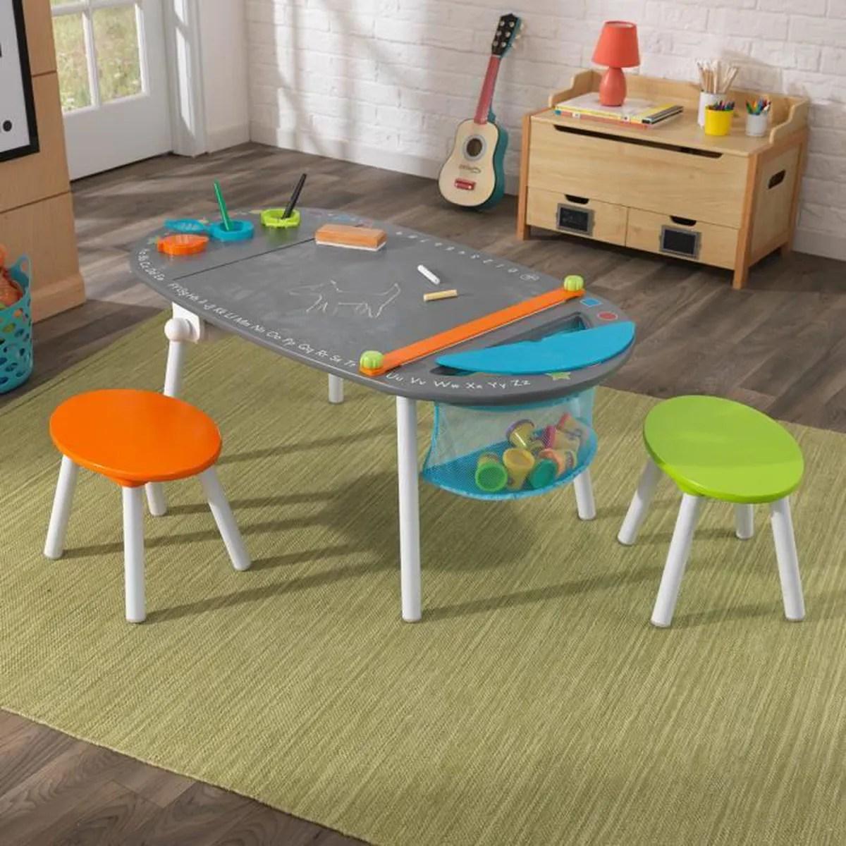 Table De Jeux En Bois Enfants Avec Rangement Et 2