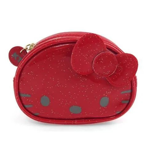 HELLO KITTY PORTEMONNAIE GLITTER FUNNY FACE Rouge