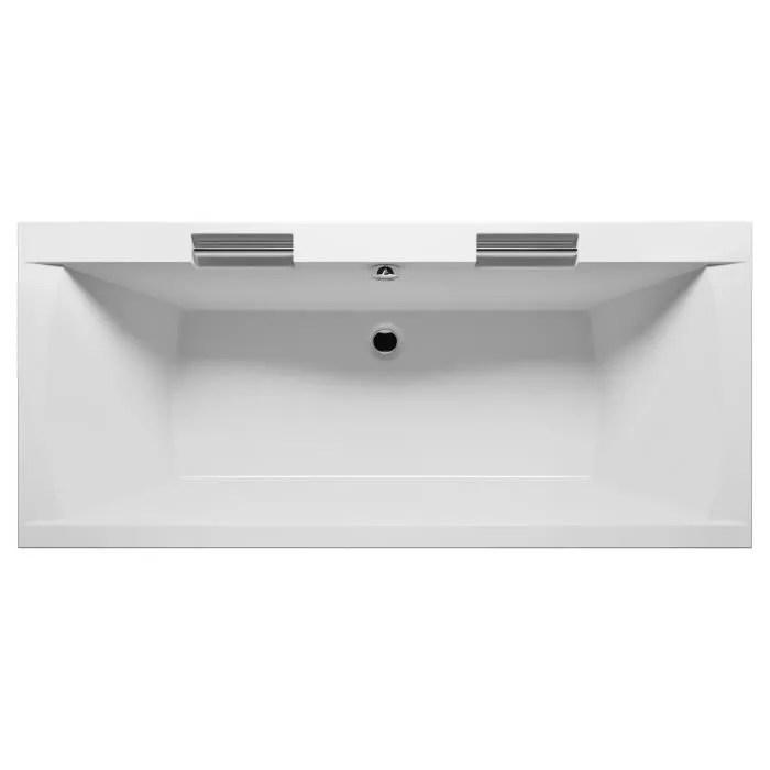baignoire acrylique riho modena 190x90 cm avec 2 poignees integrees