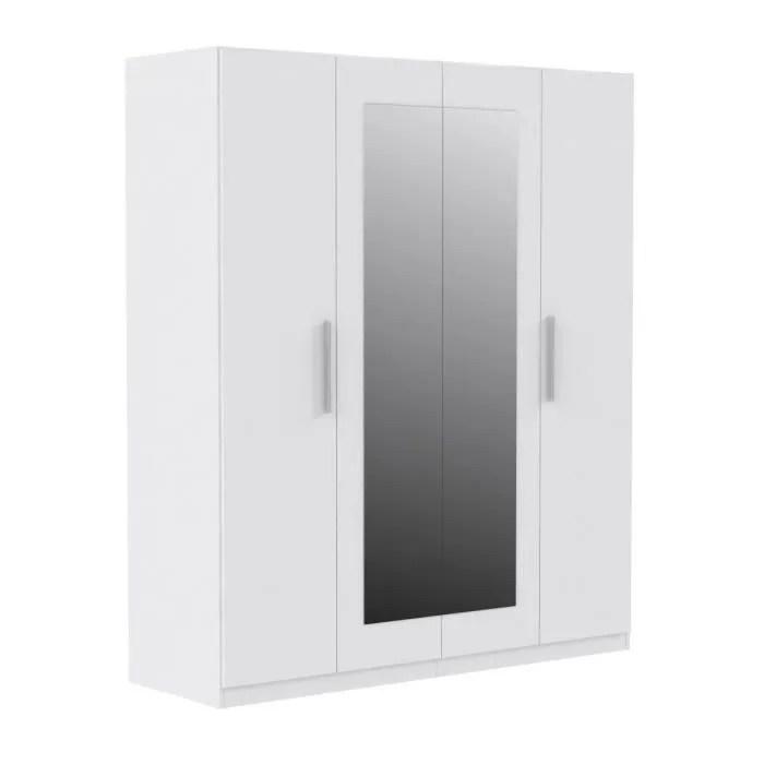 Armoire Blanche Miroir Maison Design
