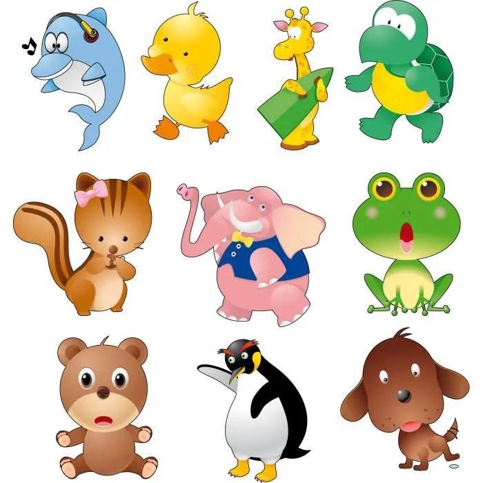 Planche 10 Stickers muraux enfant bb Animaux   Achat