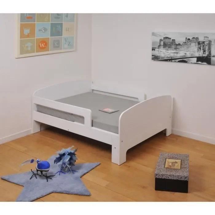 Toby Lit Enfant évolutif 90x140200 Cm + Matelas Blanc