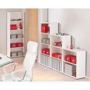petit meuble rangement meuble de rangement a 2 compartiments blanc