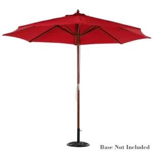 parasol ikayaa parasol longue grand air rouge jardin cafe