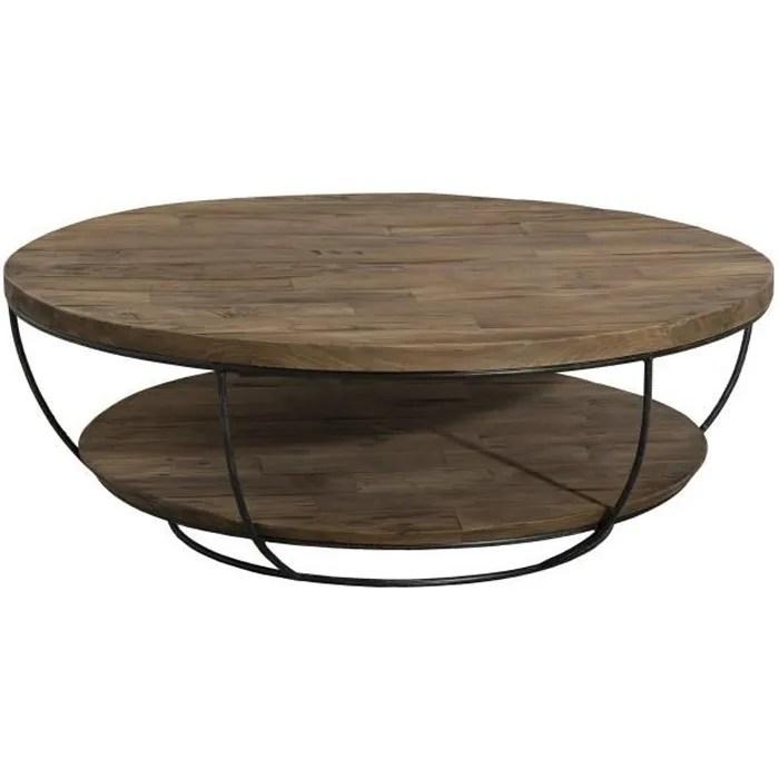 Table Basse Ronde Bois Et Metal Achat Vente Table