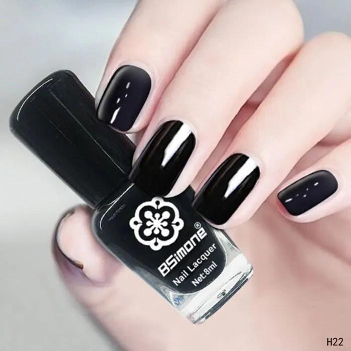 Ongles Blanc Et Noir
