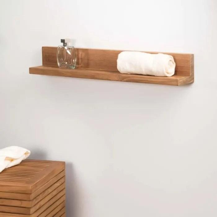 tablette salle de bain bois bright